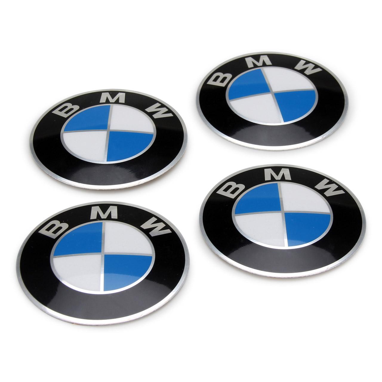 4x ORIGINAL BMW Radkappe Aufkleber Emblem Ø 64,5mm 3er 5er 6er 7er Z3 36131181080