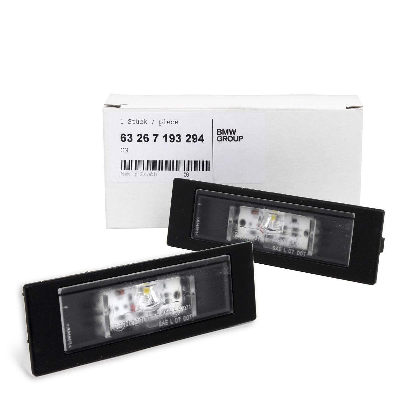 2x ORIGINAL BMW Kennzeichenleuchte Nummernschildleuchte LED 1er 6er 63267193294