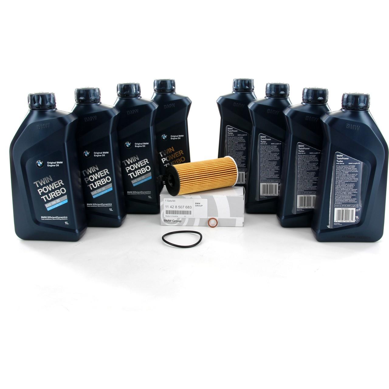 ORIGINAL BMW Motoröl Öl 5W30 LongLife-04 8 Liter + Ölfilter 11428507683