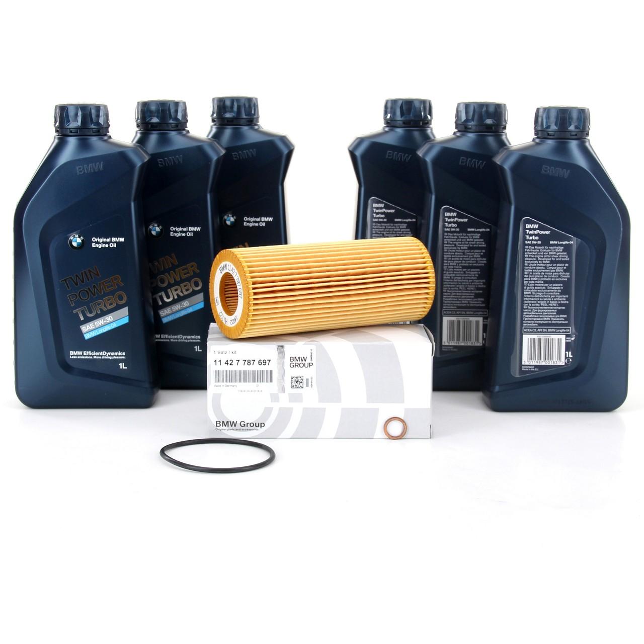ORIGINAL BMW Motoröl Öl 5W30 LongLife-04 6 Liter + Ölfilter 11427787697