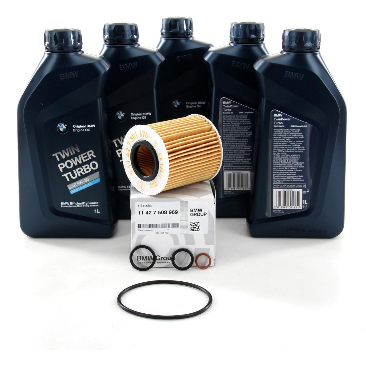 ORIGINAL BMW Motoröl Öl 5W30 LongLife-04 5 Liter + Ölfilter 11427508969