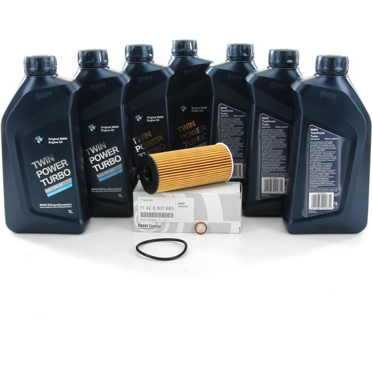 ORIGINAL BMW Motoröl Öl 5W30 LongLife-04 7 Liter + Ölfilter 11428507683
