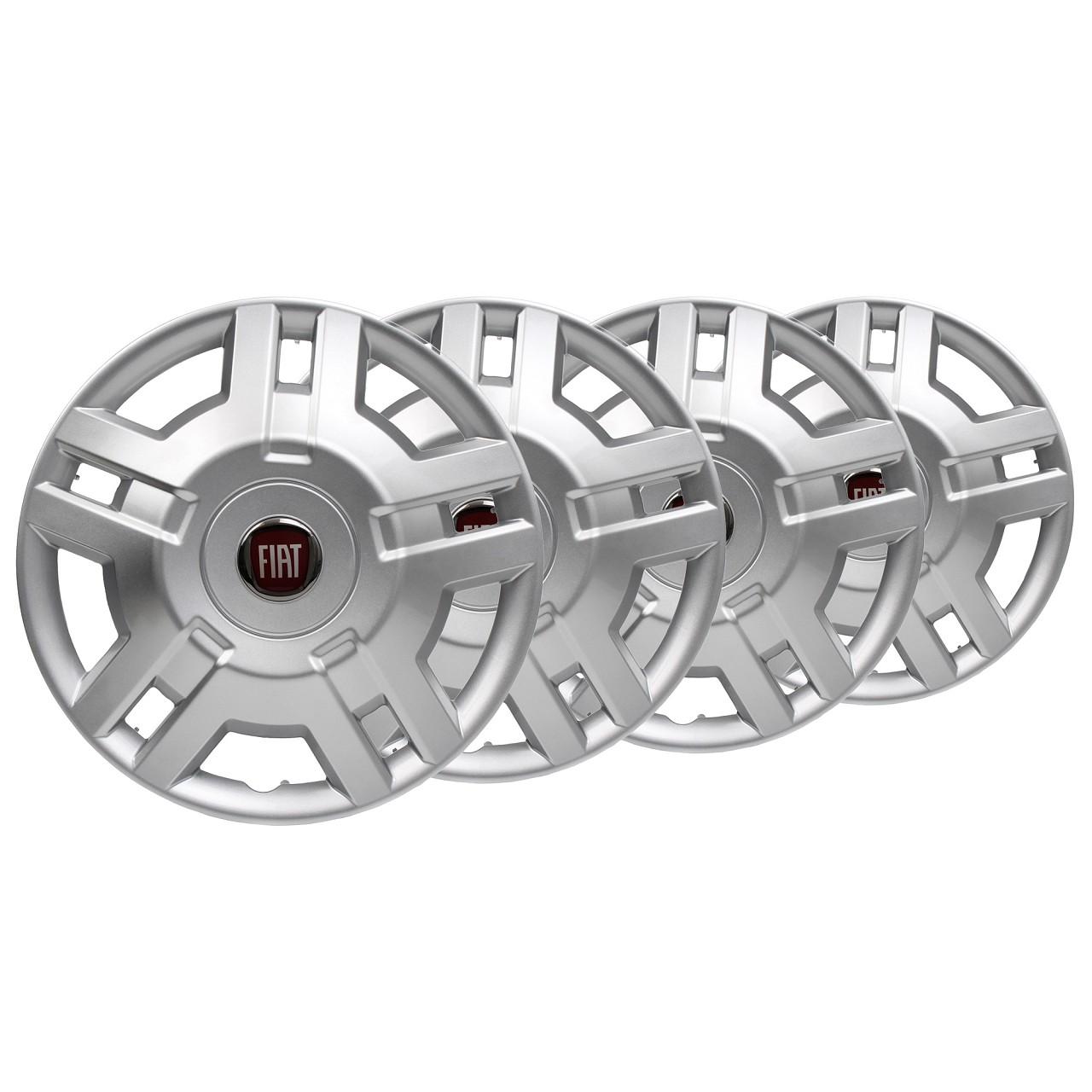 4x ORIGINAL Fiat Radkappe Radblende SILBER 15 Zoll DUCATO (250 290) 1358879080