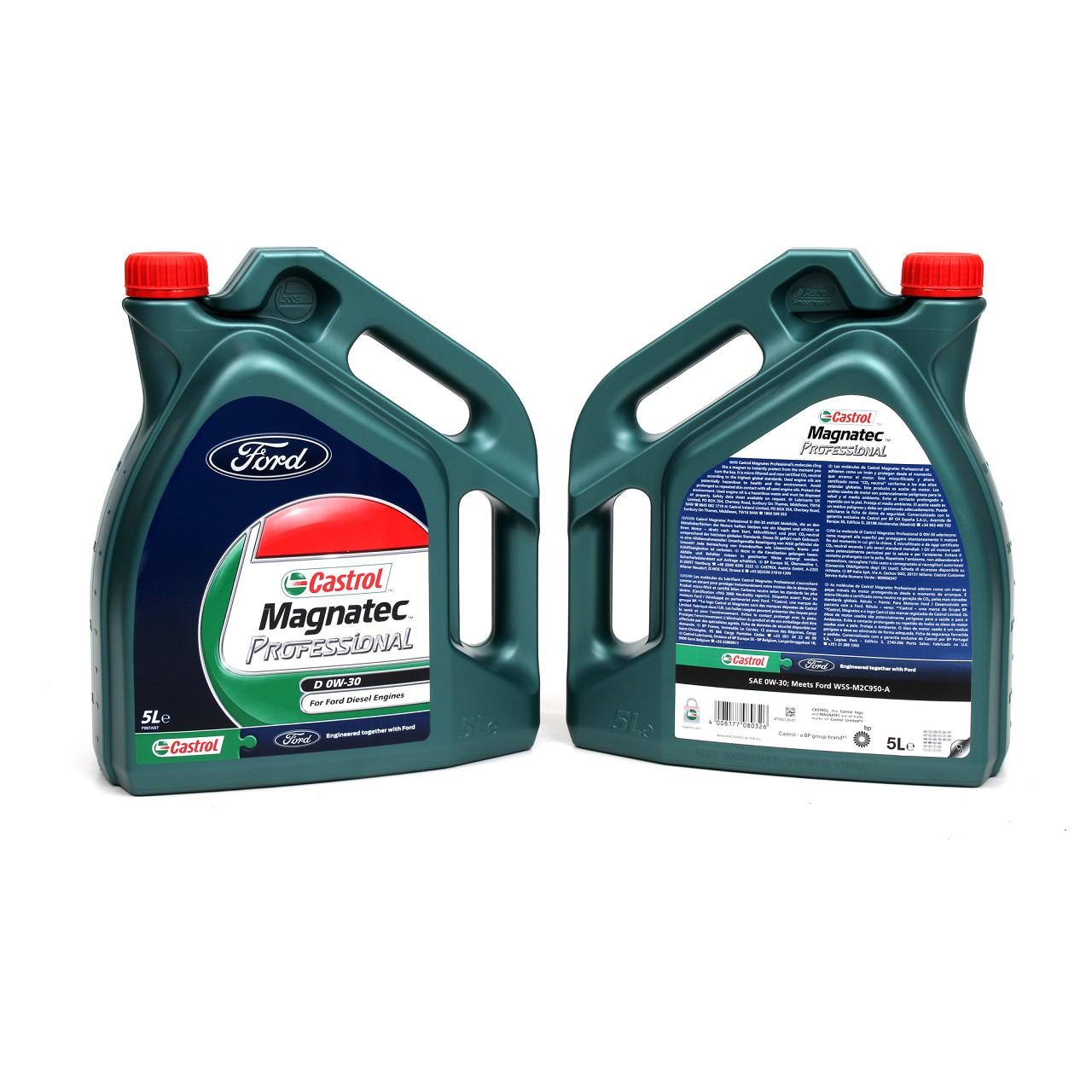 ORIGINAL Ford CASTROL Motoröl Öl D 0W30 Magnatec Professional 10 Liter 15D5FF