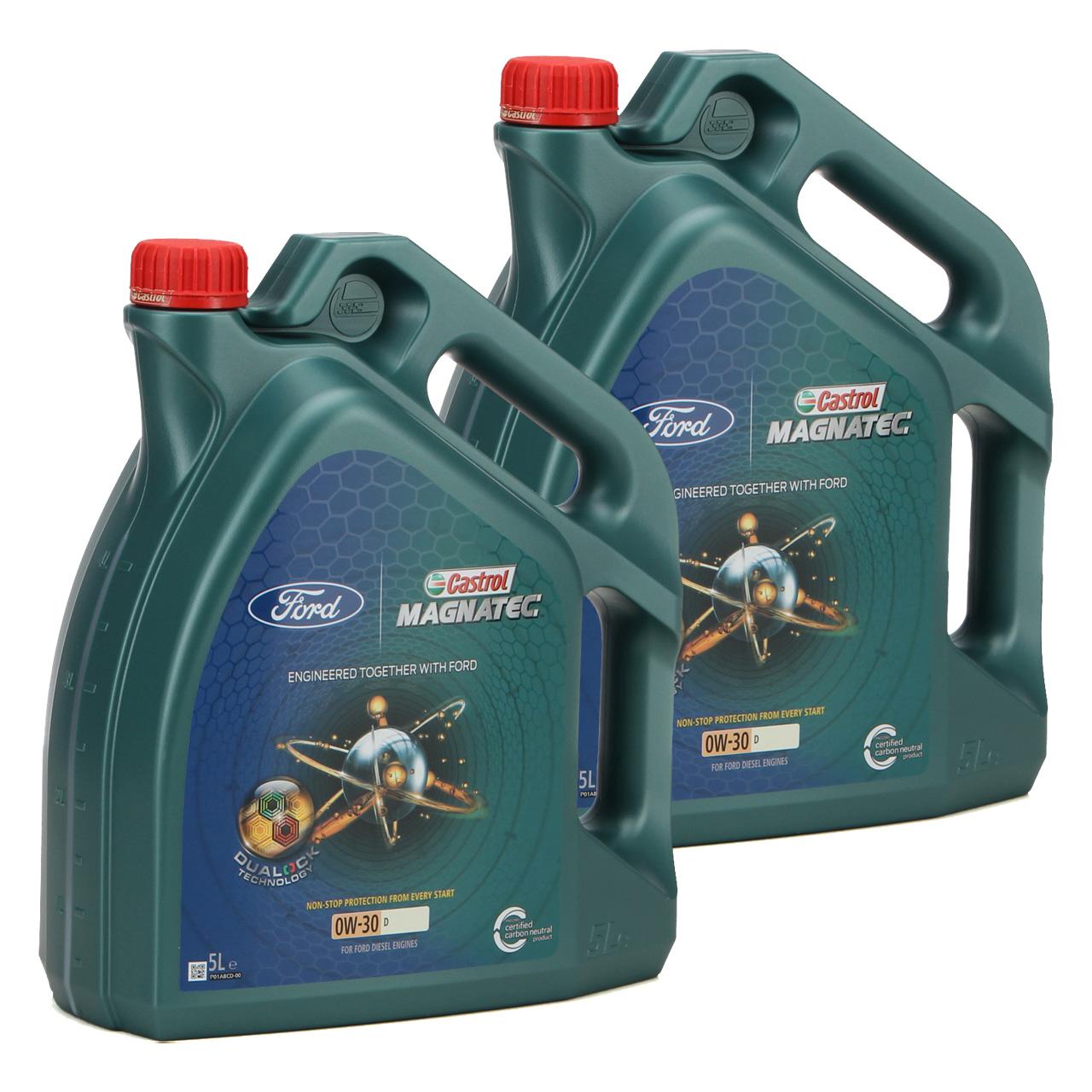 ORIGINAL Ford CASTROL Motoröl Öl MAGNATEC D 0W30 0W-30 10L 10 Liter 15D5FF