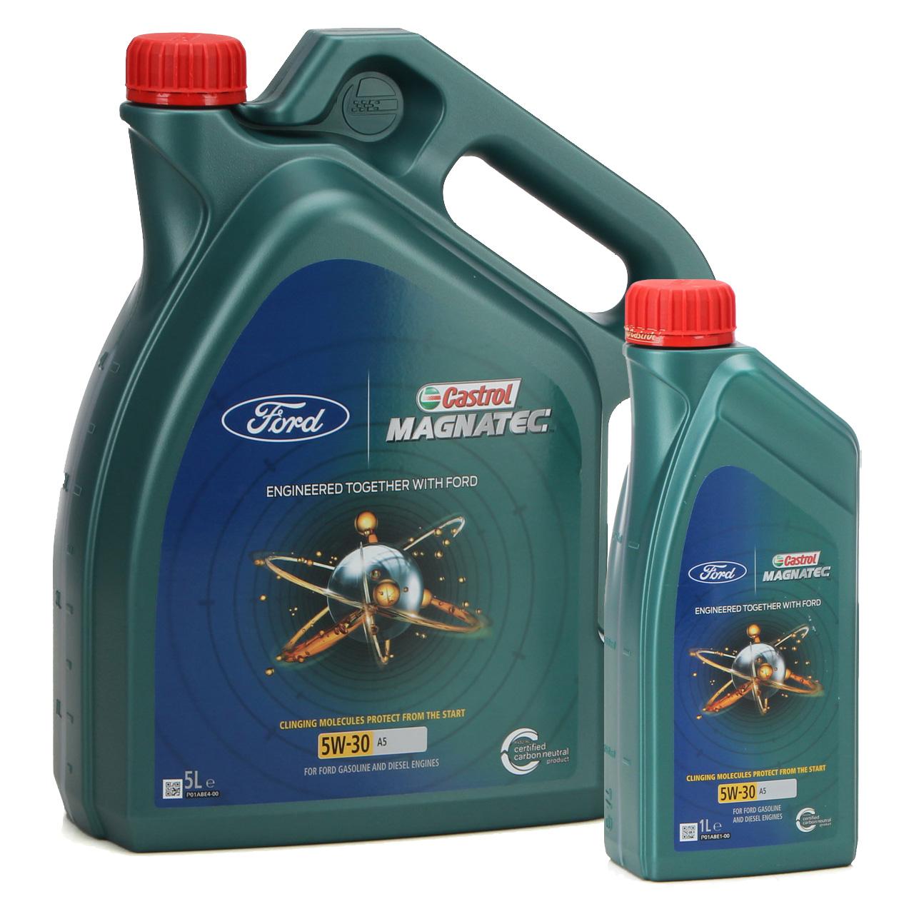 6L 6 Liter ORIGINAL Ford CASTROL Motoröl Öl MAGNATEC A5 5W30 5W-30