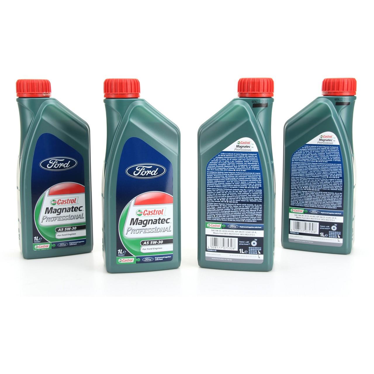 ORIGINAL Ford Motoröl Öl CASTROL Magnatec Professional A5 5W30 4 Liter