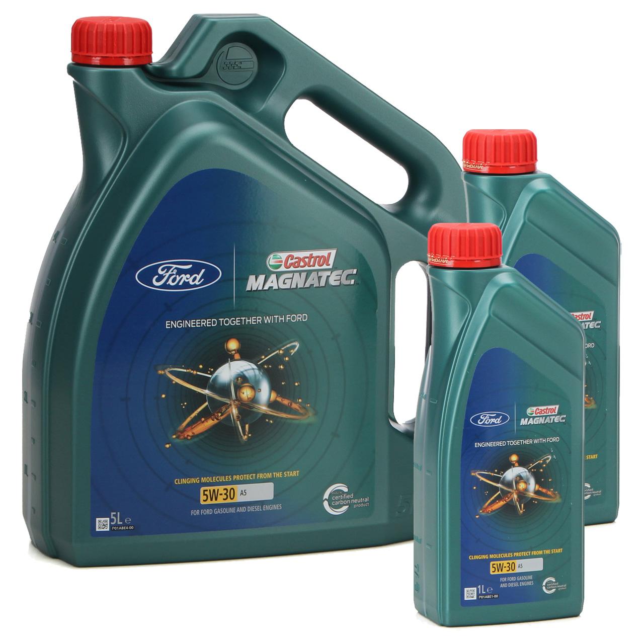7L 7 Liter ORIGINAL Ford CASTROL Motoröl Öl MAGNATEC A5 5W30 5W-30