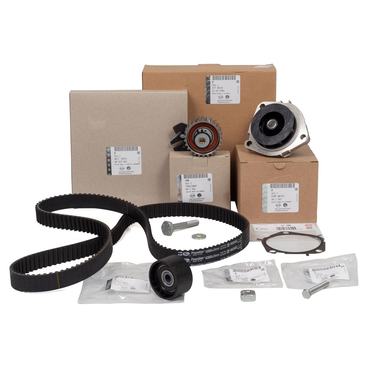 ORIGINAL Opel Zahnriemensatz 95507810 + Wasserpumpe 55488983 für 1.9 / 2.0 CDTI