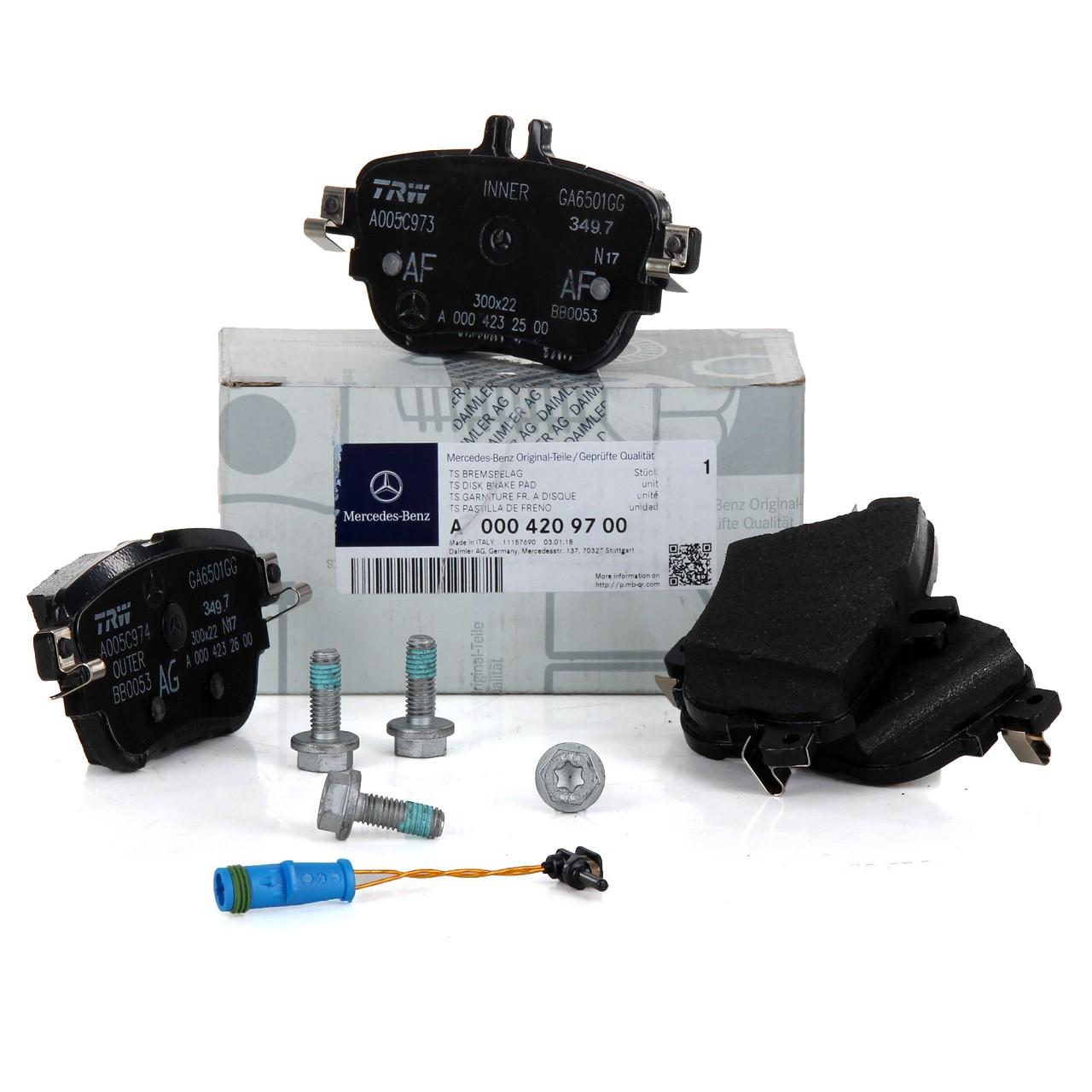 ORIGINAL Mercedes-Benz Bremsbeläge Bremsklötze + Wako E-KLASSE W213 S213 hinten