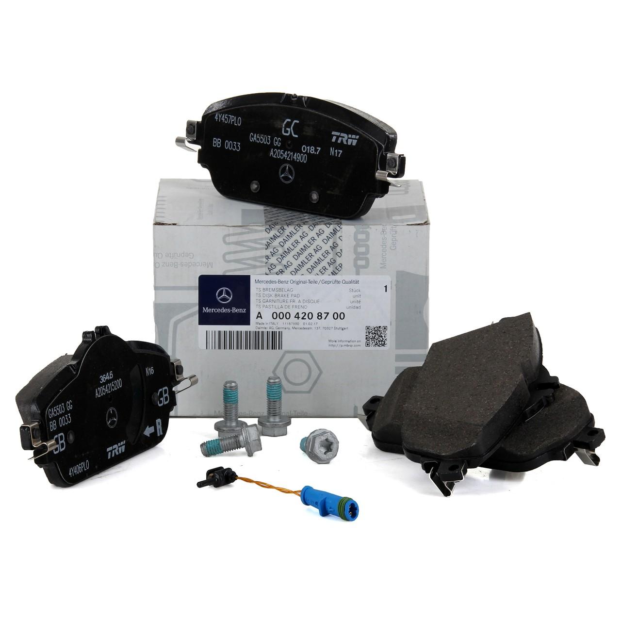 ORIGINAL Mercedes-Benz Bremsbeläge + Warnkontakt W/S205 A/C205 W/S213 vorne