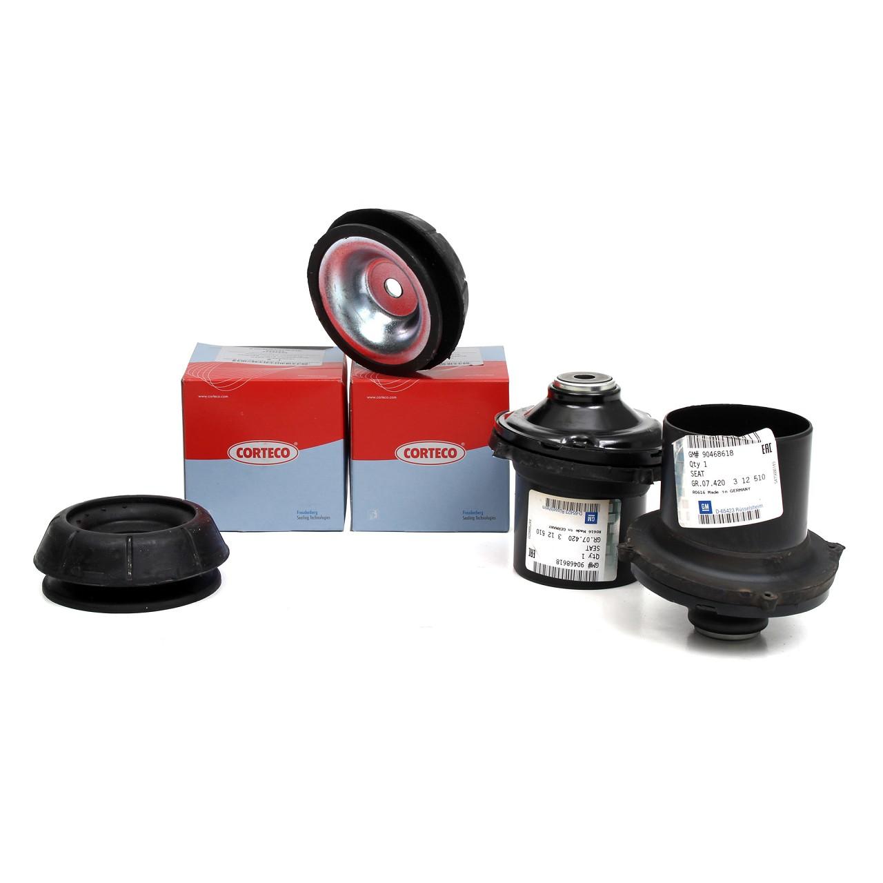 2x ORIGINAL Opel Federbeinlager Domlager 90468618 + 2x CORTECO 90538936 vorne