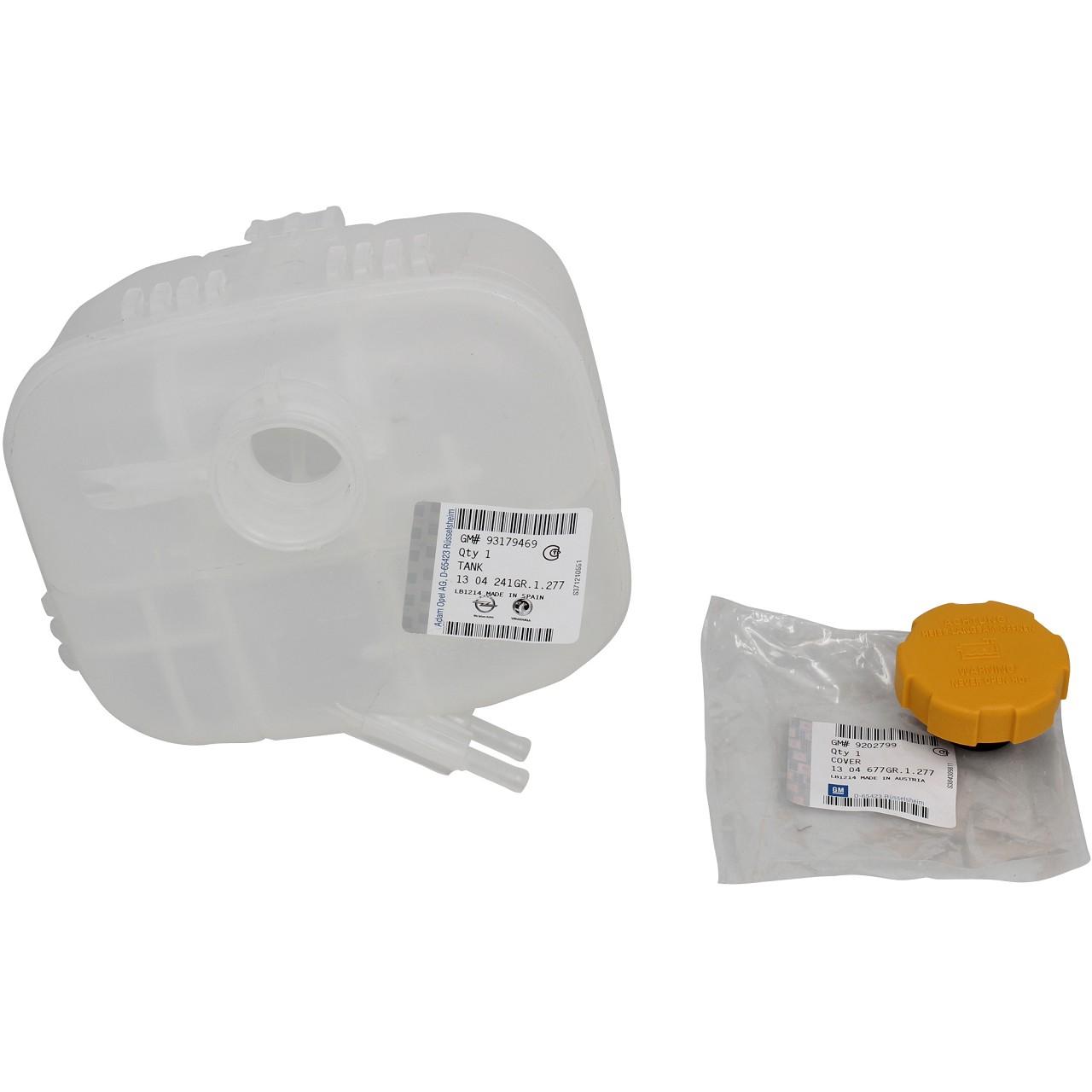 ORIGINAL Opel Ausgleichsbehälter Kühlmittel + Deckel ASTRA H 1304241 + 1304677