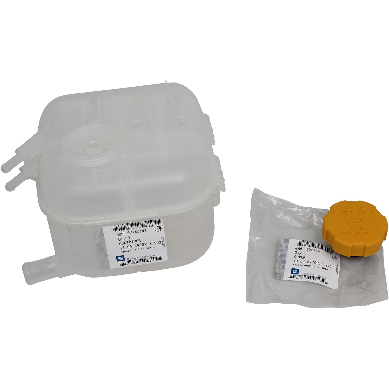 ORIGINAL GM Opel Ausgleichsbehälter Kühlmittelbehälter Zafira B 1304242+1304677