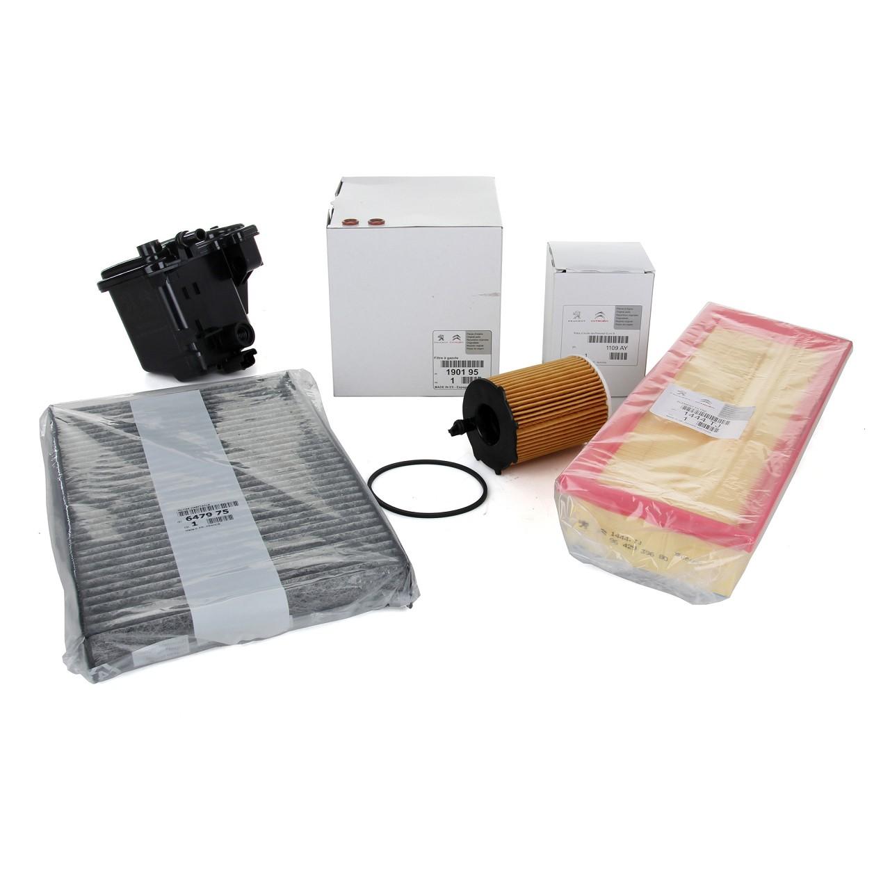 ORIGINAL PEUGEOT CITROEN Inspektionskit Filterset 307 308 C3 C4 1.6HDI 90 109 PS
