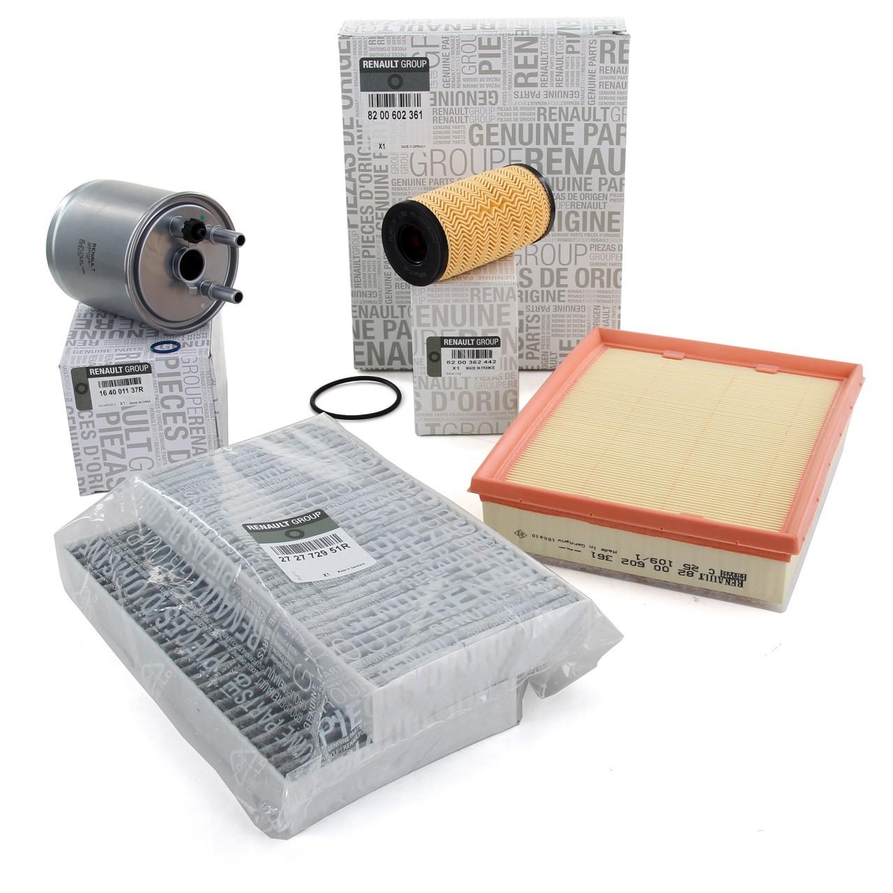 ORIGINAL Renault Inspektionskit Filterpaket Filterset Laguna 3 2.0dCi 131-178PS