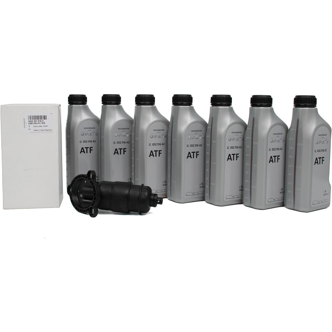ORIGINAL Audi VW Inspektionskit Getriebefilter 0AW CVT Getriebeöl 7 Liter