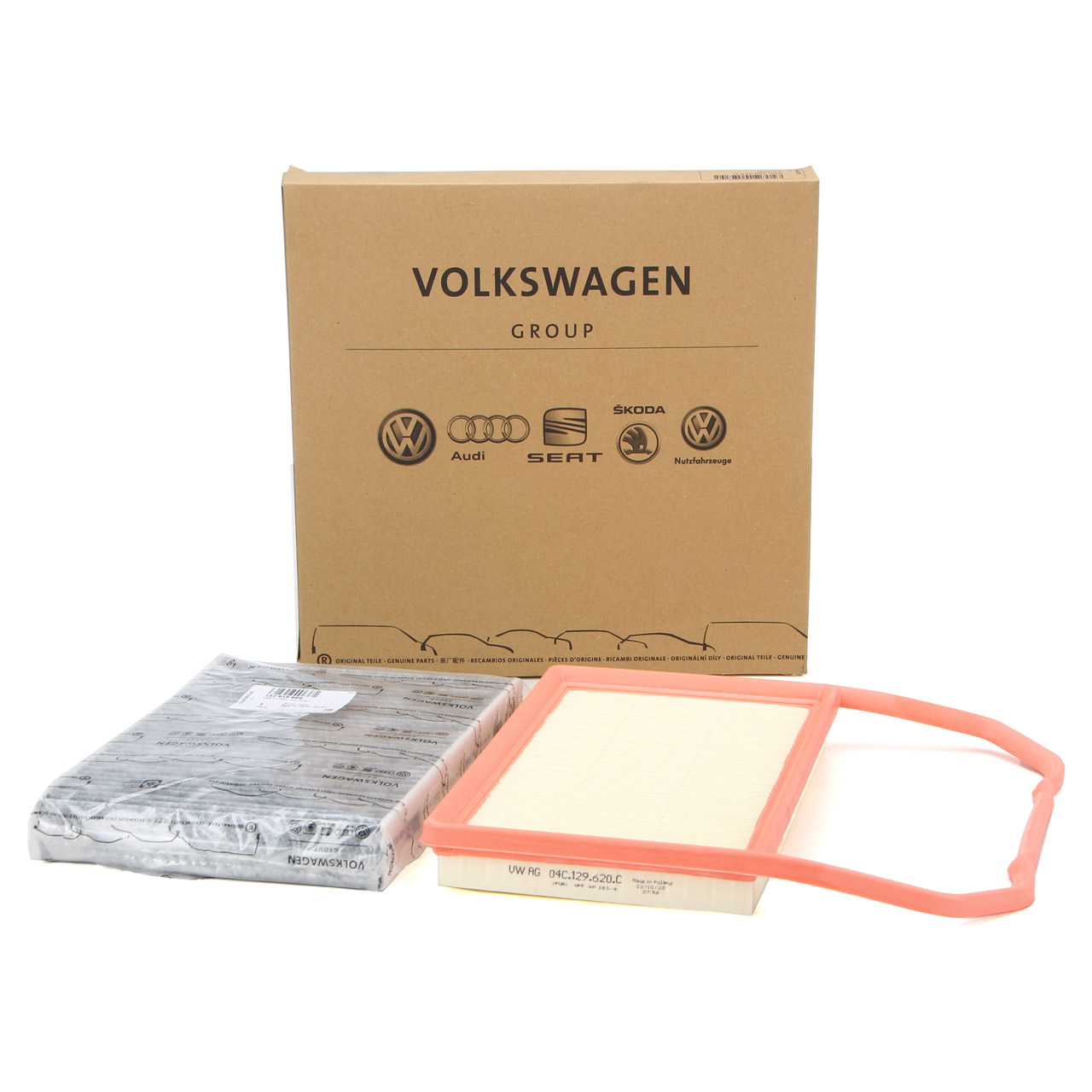 ORIGINAL Seat Skoda VW Filterset Filterpaket 2-tlg. Mii Citigo Up 1.0 60/6875 PS