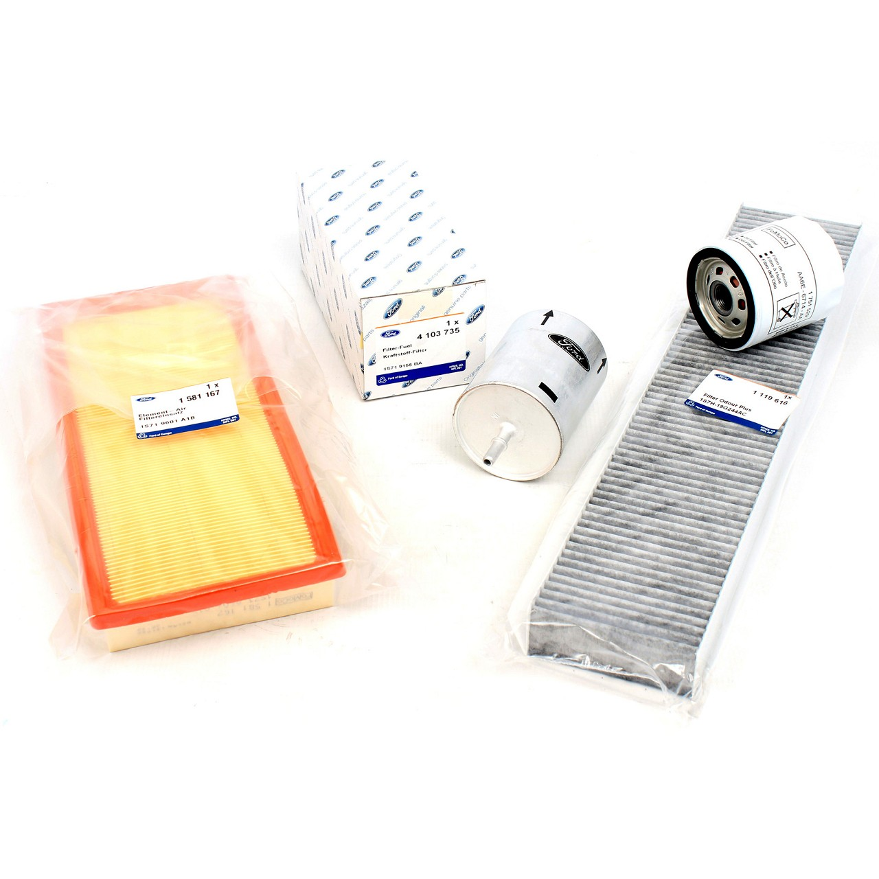 ORIGINAL Ford Inspektionskit Filterset für MONDEO MK3 1.8-2.0 16V ab Bj. 11/2002