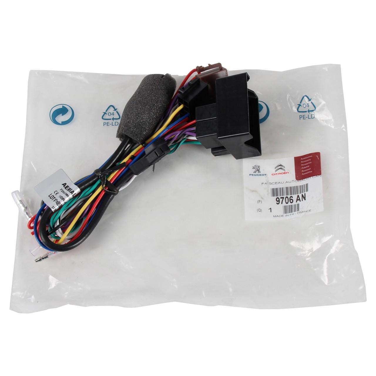 ORIGINAL Citroen Peugeot Radio Adapter Adapterkabel Radionachrüstung 9706.AN