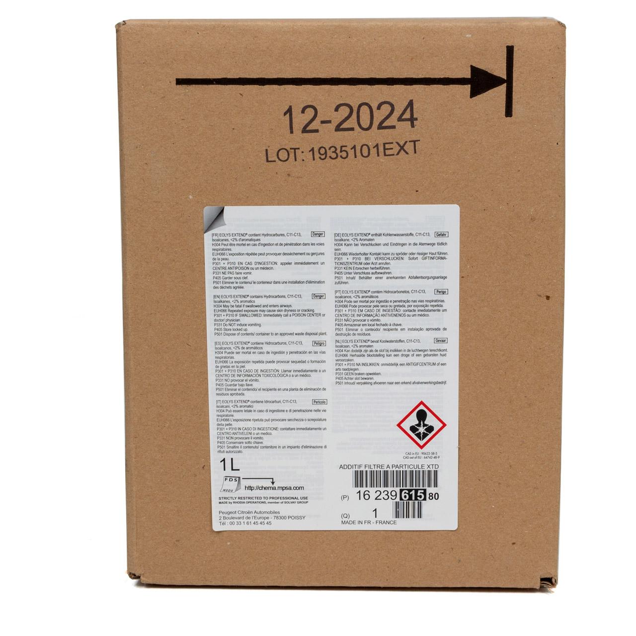 ORIGINAL PSA Additiv für Dieselpartikelfilter EOLYS EXTEND 1 Liter 1623961580