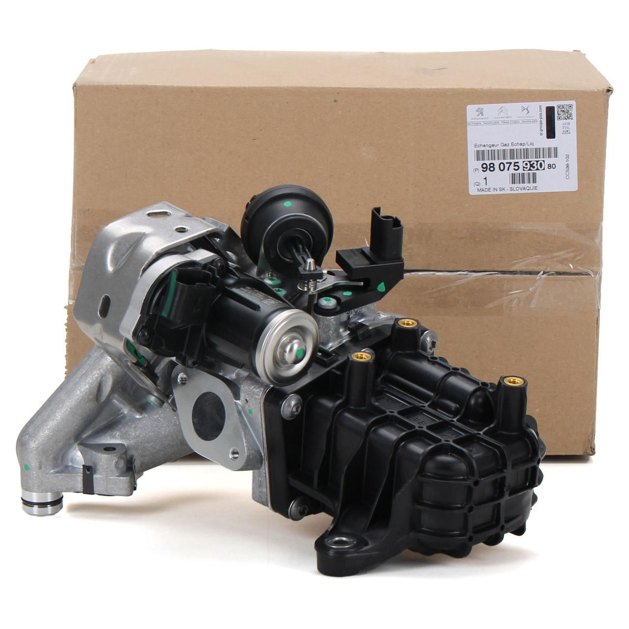 ORIGINAL PSA AGR Ventil + Kühler C5 III DS4 DS5 308 II 2.0 BlueHDi S9807593080