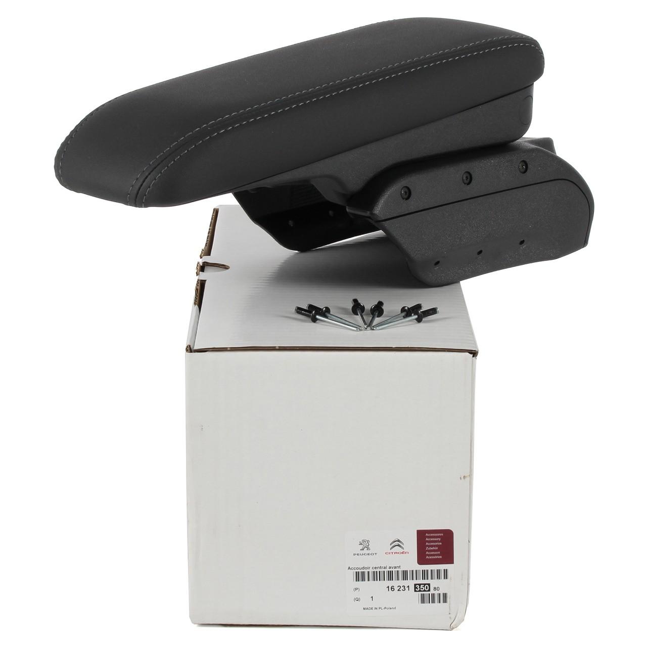 ORIGINAL Peugeot Armlehne Mittelarmlehne SCHWARZ / GRAU 1623135080 für 2008