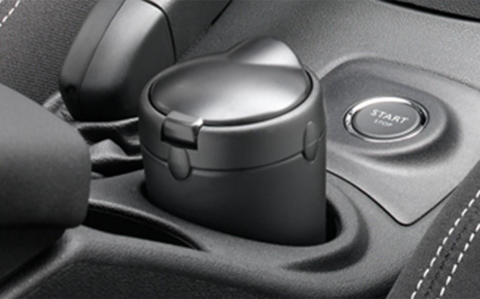 ORIGINAL Citroen Peugeot Aschenbecher mit Deckel SCHWARZ RUND 7589.05
