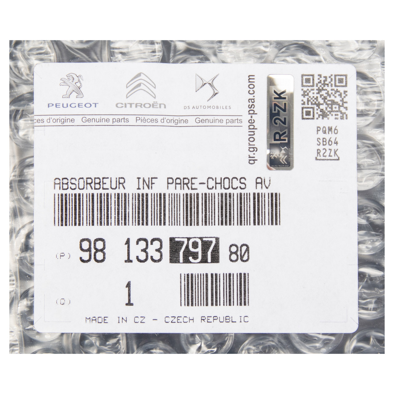 ORIGINAL Citroen Aufprallschutz Stoßstangenverstärkung C3 III vorne 9813379780