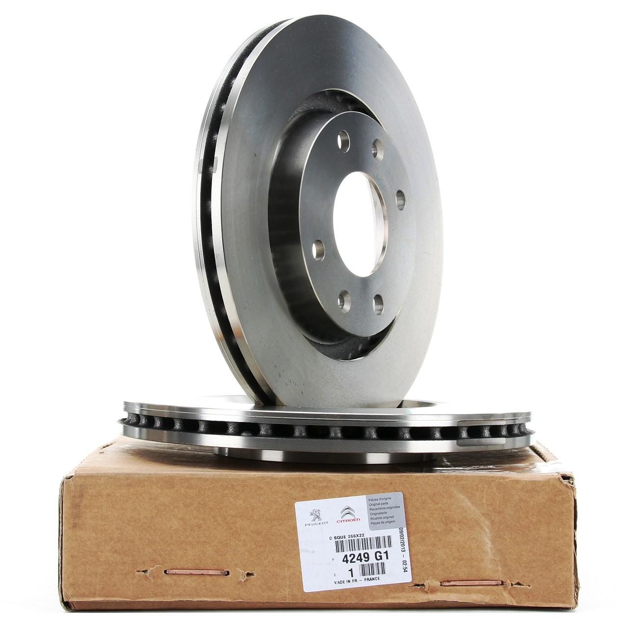 ORIGINAL Citroen Peugeot Bremsscheiben Satz C2 C3 C4 DS3 206 207 208 301 vorne