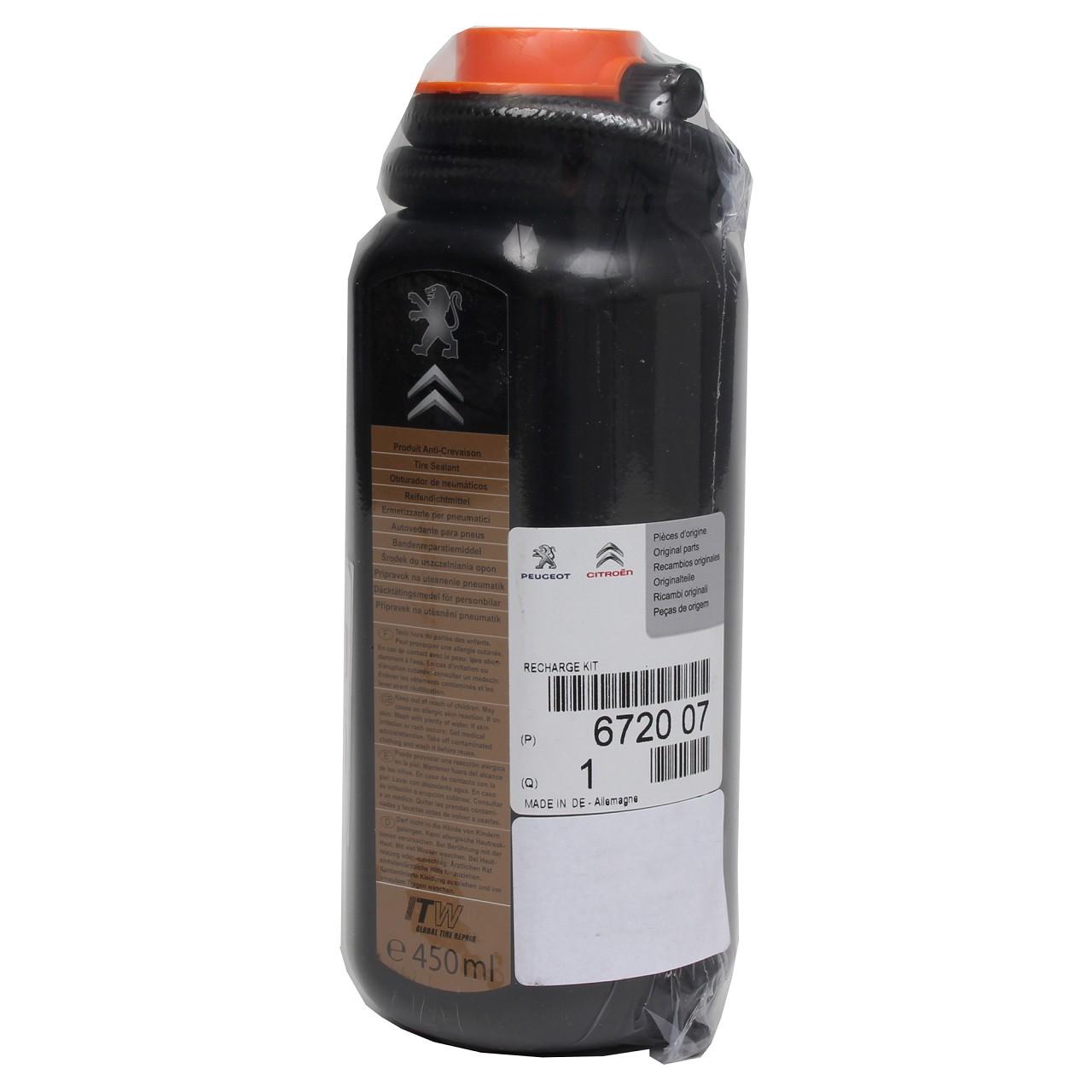 ORIGINAL Citroen Peugeot Reifendichtmittel Reifendichtungsmittel 450ml 6720.07