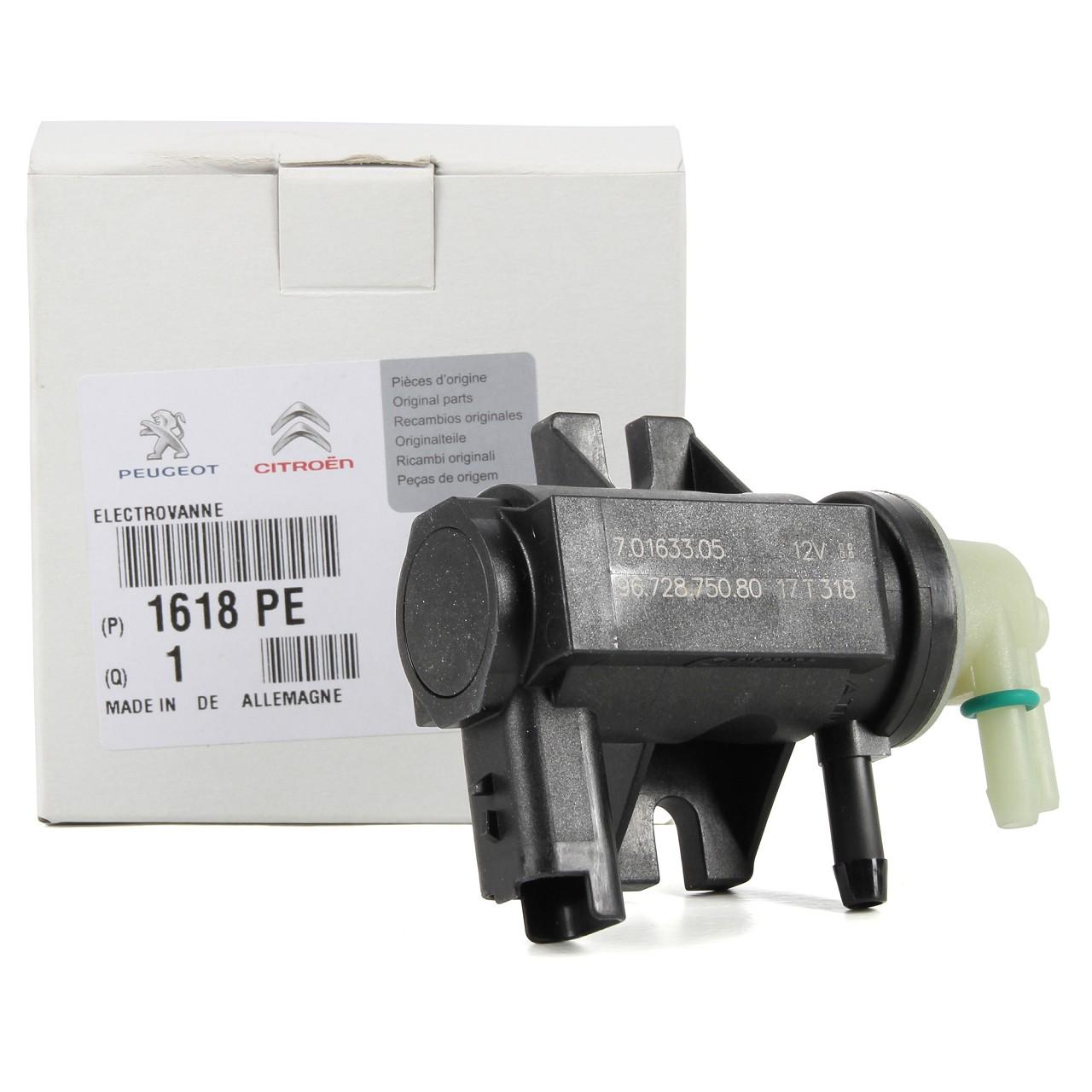 ORIGINAL Citroen Peugeot Druckwandler Magnetventil Turbolader 1.6 HDi 1618.PE