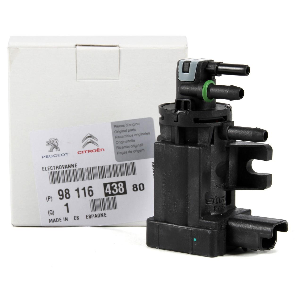 ORIGINAL Citroen Peugeot Druckwandler Magnetventil 1.6 HDi 9811643880