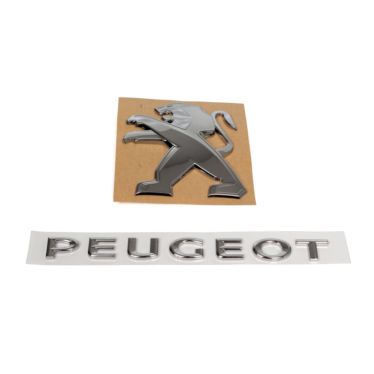ORIGINAL Peugeot Emblem Schriftzug Logo Set Partner ab 04.2008 hinten 9678113880