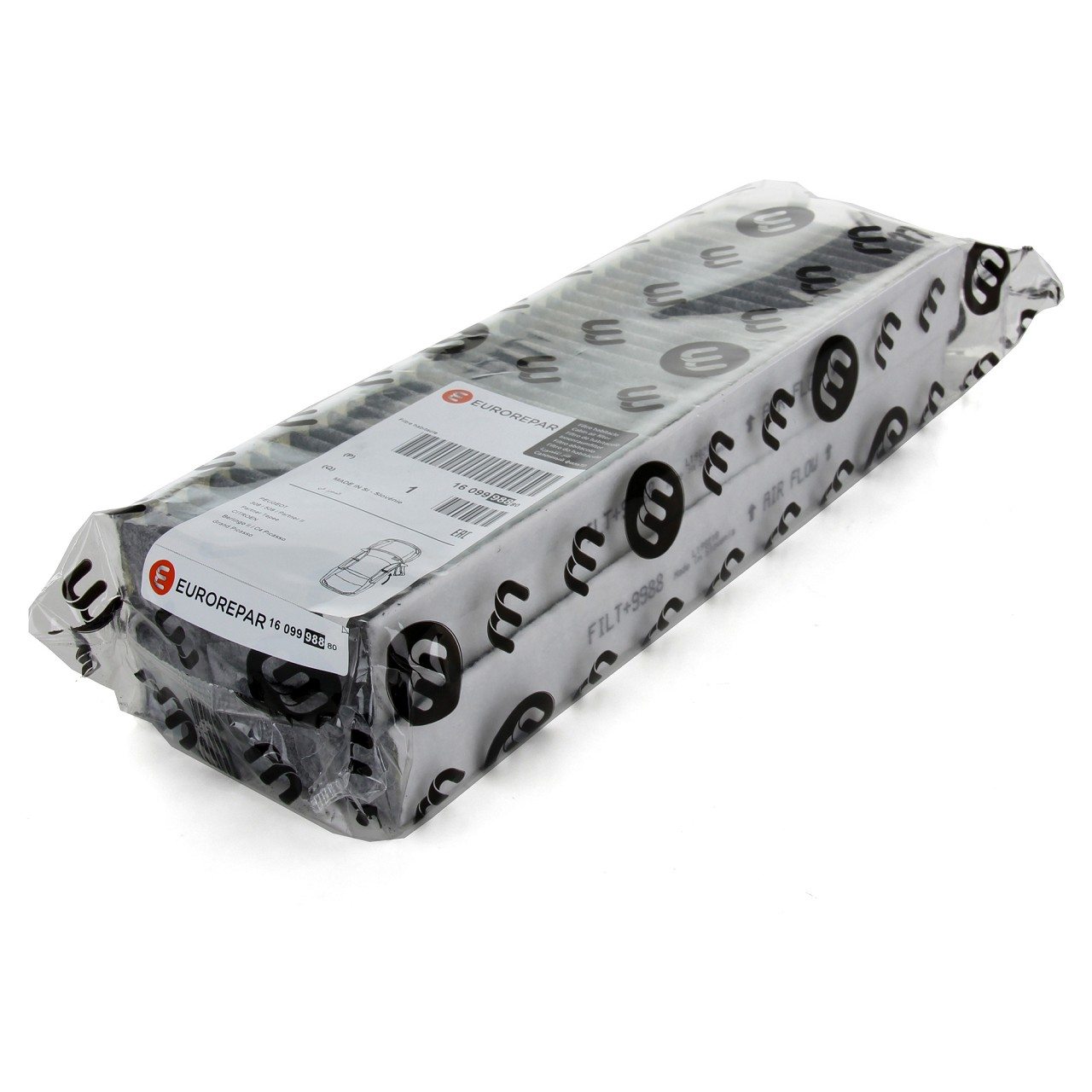 ORIGINAL Citroen Peugeot EUROREPAR Innenraumfilter Aktivkohlefilter 1609998880