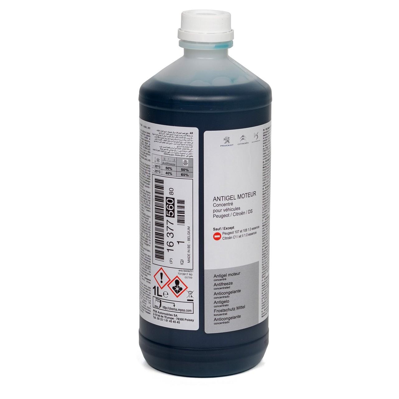 ORIGINAL PSA Kühlflüssigkeit PRO Glysantin G33 1 Liter BLAU / GRÜN 1637756080