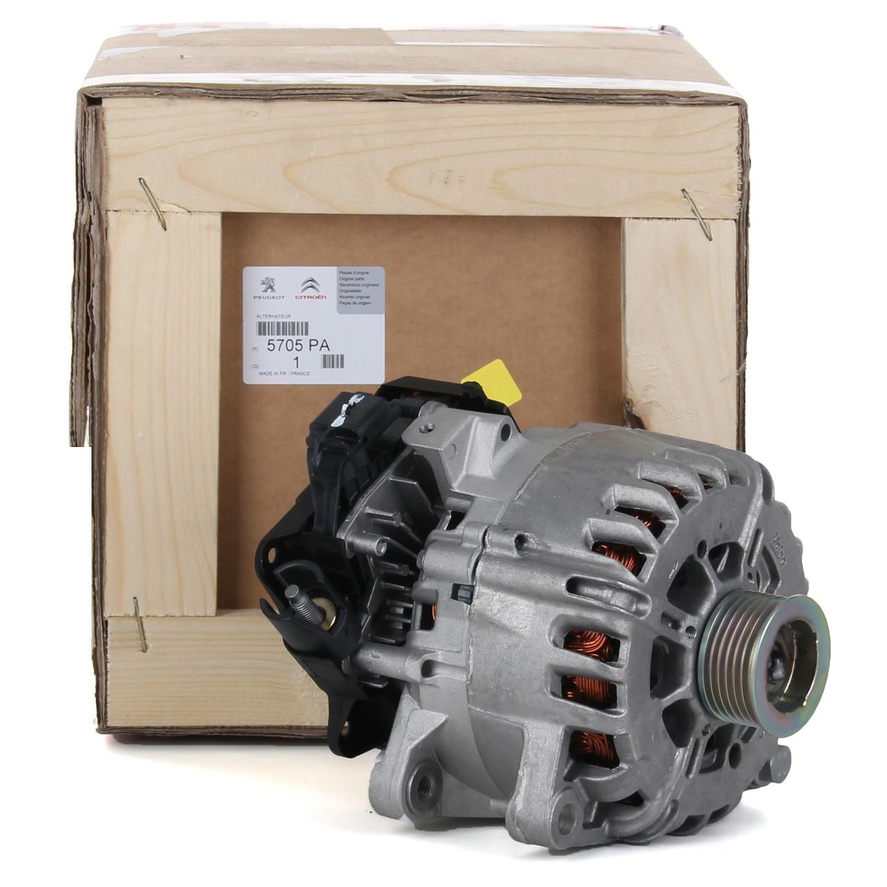 ORIGINAL Citroen Peugeot Lichtmaschine Generator 12V 180A 1.6/2.0 HDi 5705.PA