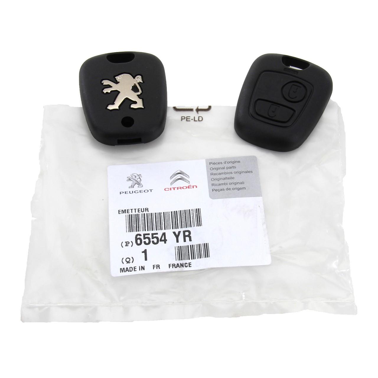 ORIGINAL Peugeot Sender Funkfernbedienung Fernbedienung 2-Tasten 206 6554.YR
