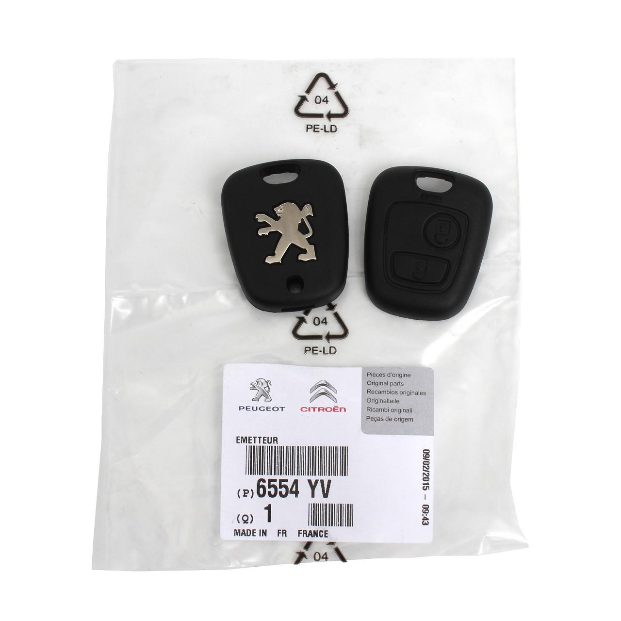 ORIGINAL Peugeot Sender Funkfernbedienung Fernbedienung 2-Tasten 6554.YV