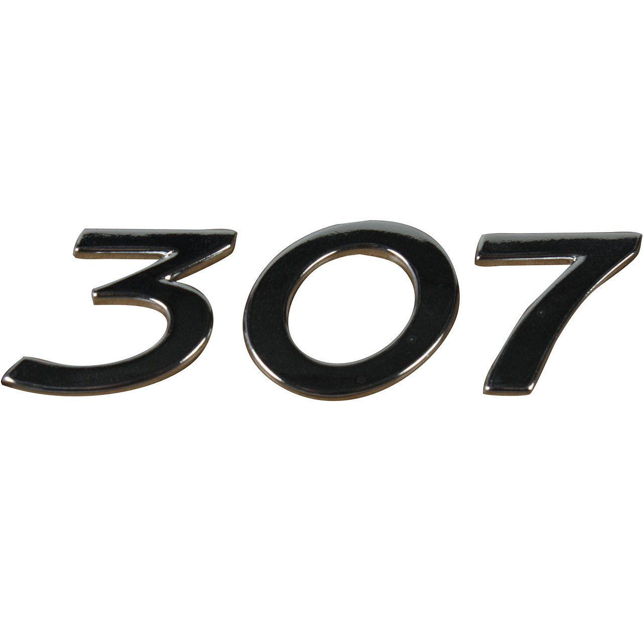 ORIGINAL Peugeot Emblem Plakette Logo Schriftzug Heckklappe 307 8665.C1
