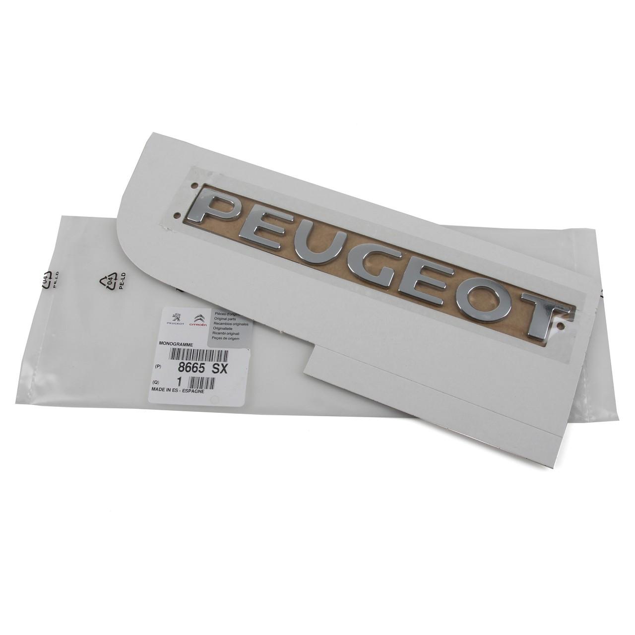 ORIGINAL Peugeot Emblem Plakette Schriftzug Heckklappe CHROM 8665.SX für 207 SW