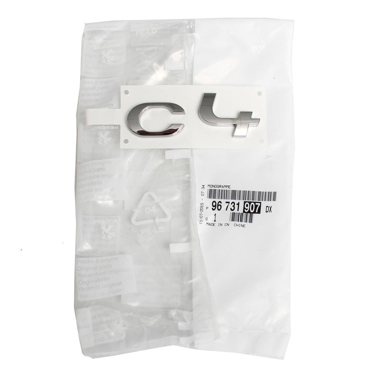 ORIGINAL Citroen Emblem Plakette Schriftzug Logo Heckklappe C4 II 96731907DX
