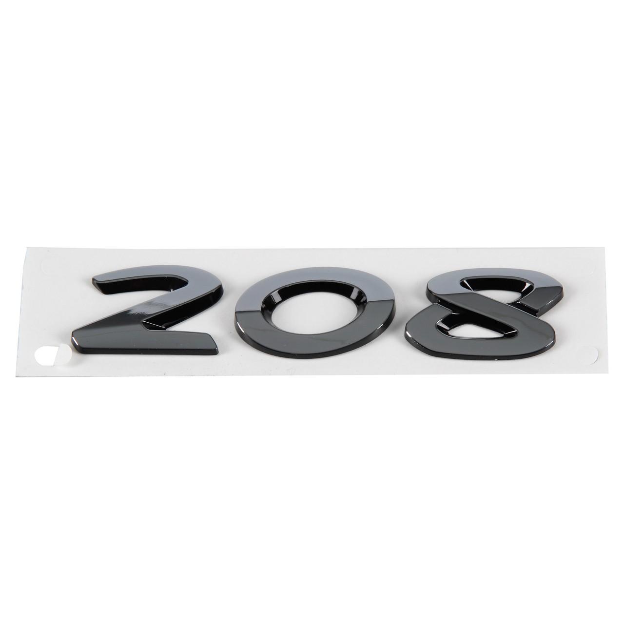 ORIGINAL Peugeot Emblem Plakette Schriftzug hinten Heckklappe 9806133980 für 208