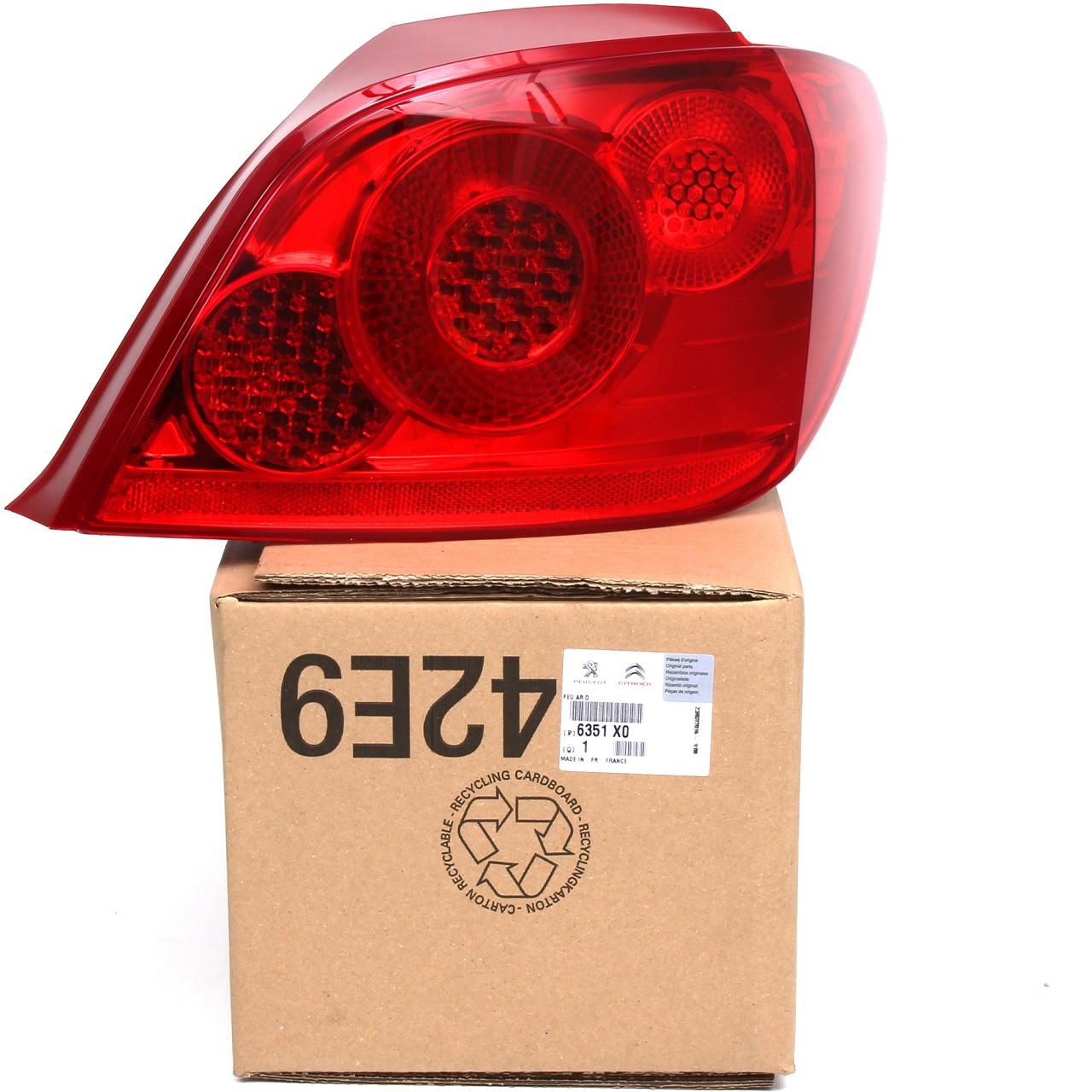 ORIGINAL Peugeot Heckleuchte Rückleuchte Rücklicht 307 Schrägheck rechts 6351.X0