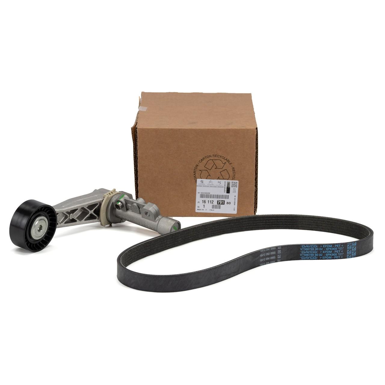 ORIGINAL Citroen Peugeot Keilrippenriemen Reparatursatz 1.4 1.6 1611279180