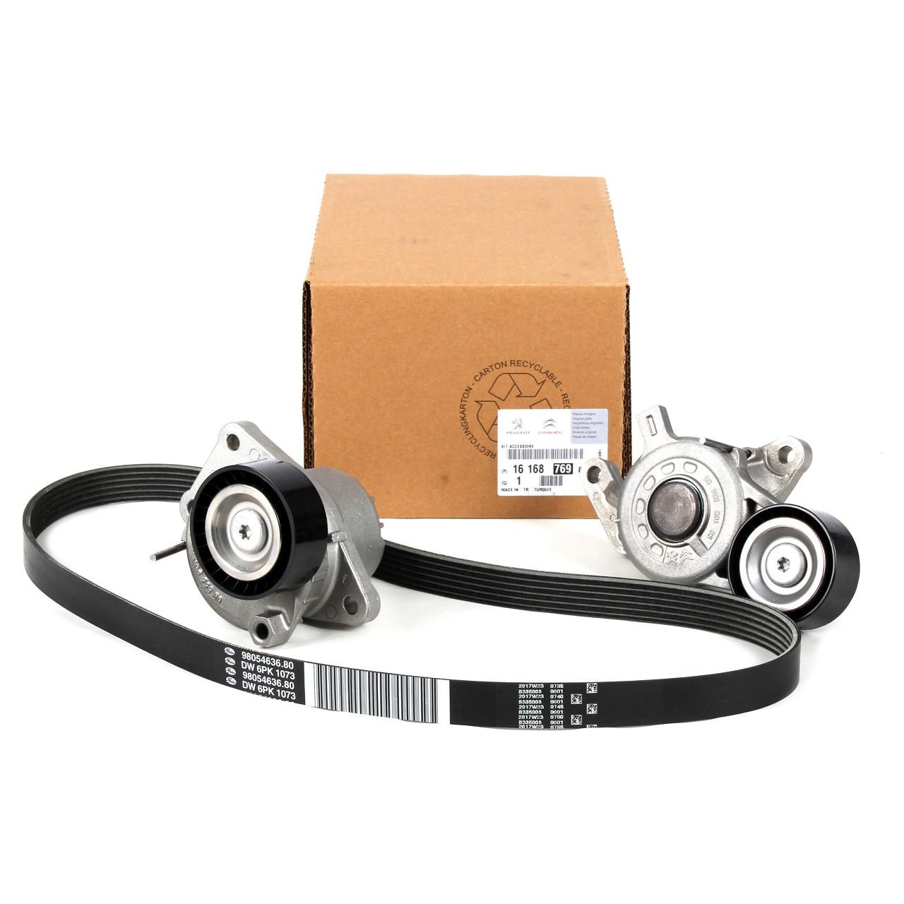 ORIGINAL Citroen Peugeot Keilrippenriemen Reparatursatz 2.0 HDi 1616876980