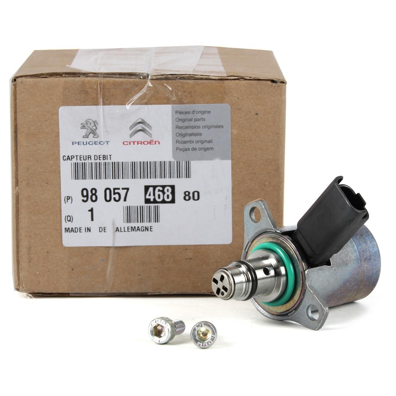 ORIGINAL Citroen Peugeot Kraftstoffdruckregler Druckregler 9805746880 für 2.2HDi