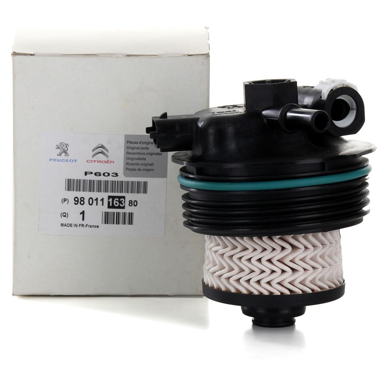 ORIGINAL Citroen Peugeot Kraftstofffilter Dieselfilter 1.6/2.0 HDi 9801116380