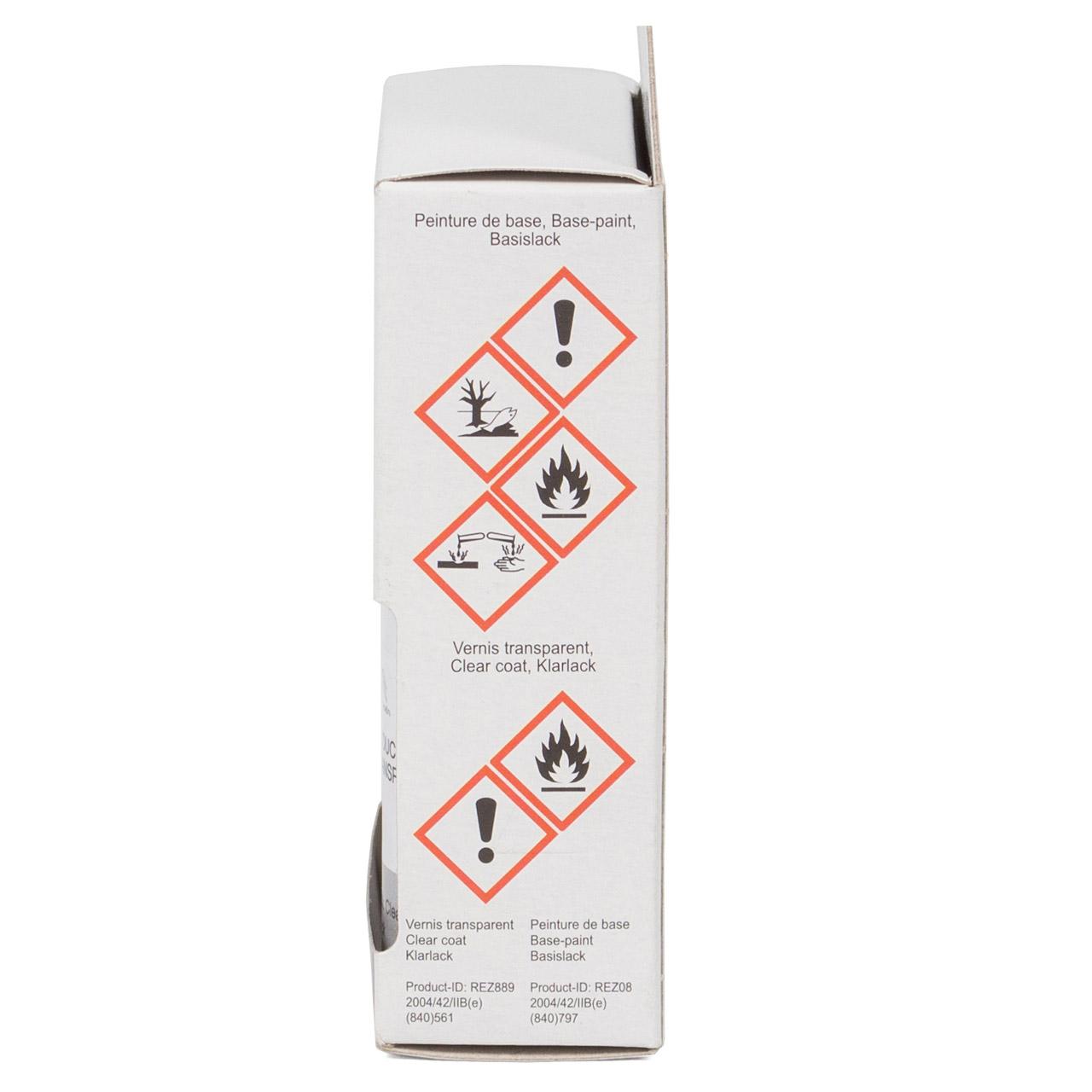 ORIGINAL PSA Lackstift Set GRAU Aluminium EZR + 12ml Klarlack 1649606180