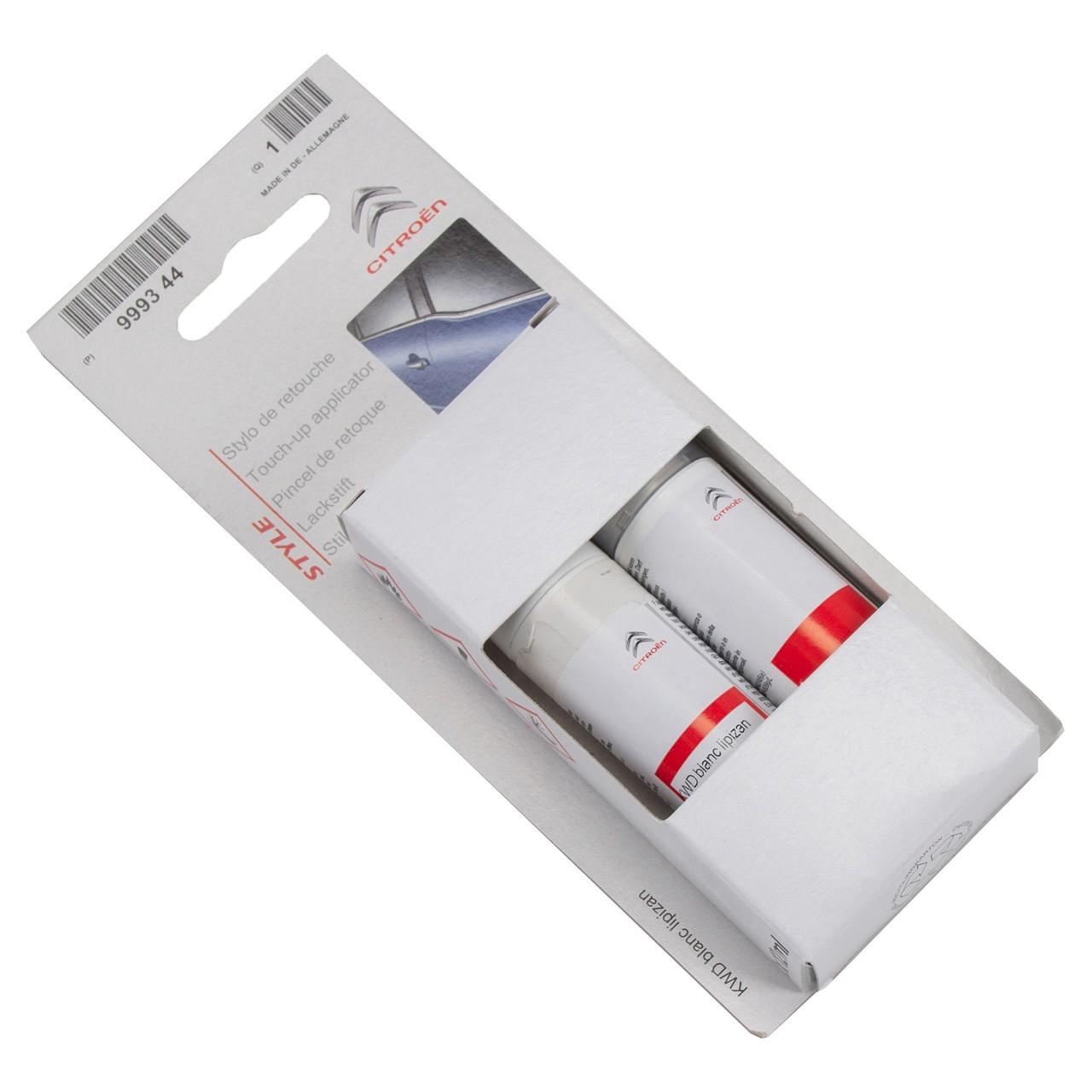 ORIGINAL Citroen Lackstift Set WEISS Lipizzaner + 12ml Klarlack 1649608680